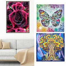 DIY 5D Diamond Painting Embroidery Kit Rose & Money Tree Crafts Room Decor