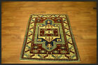 Authentic Red Blue Antique  4x5 Anatolian Turkish Oriental Area Rug