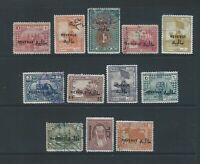 Middle East Iraq Irak KINGDOM fine used REVENUE stamps to 1O R
