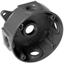 "Hubbell-Raco5361-6 4"" Round Weatherproof Splice Box, Gray"
