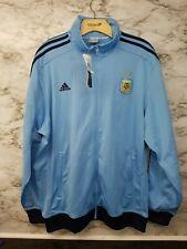 Adidas Argentina Track Jacket Leo Messi #10  New Blue Zip Up Barcelona 160$ MSRP
