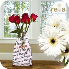 Reva Expanding I Love You Reusable Flower Vase Xmas Birthday Valentines