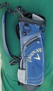 NEW CALLAWAY SUNDAY--Golf Bag--2.5--Hyper Lite-4 way--2 pockets-blue/white