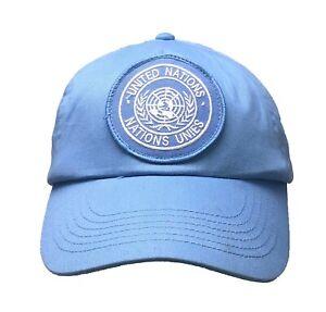 United Nations Peacekeeping Cap - UN Military Baseball Cap - Adjustable Hat