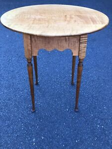 Tiger Maple Table, Vintage, River Bend LTD, Ohio ,Benner, End Table, Side Table