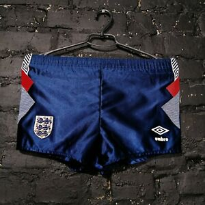 England Vintage Shorts 90-s Umbro Navy Blue Polyester Young