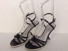Worthington Women's Black Strap Chunky High Heel Dress Sandal Shoes Size 9 M