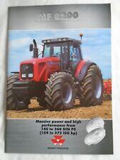 Massey Ferguson MF8200 Tractors range brochure 2001