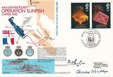 5RN16c Operation Sunfish Signed Admiral Charles Madden &Cdr B A MacCaw DFC