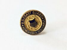 Vtg United States Coast Guard Screw Back Honorable Discharge Lapel,Hat,Tie Pin