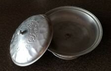 """Hammered Aluminum, Royal Sealy, Made in Japan, Covered Dish, 7"""" Dia"""