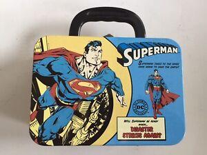 Superman Tin Lunch Box, Super Hero, DC COMICS,  Iconic, Fun, Retro, NEW
