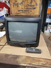 """Sharp 13K-M100 13"""" Analog CRT Television Perfect For Gaming, Inputs Outputs With"""