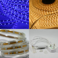 LED Strips Light 3528 SMD 60 LED 240V Waterproof IP65  1 5 Meter Warm White Blue