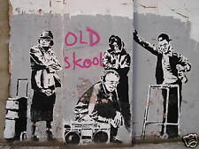 QUALITY BANKSY ART PHOTO PRINT (OLD SKOOL),