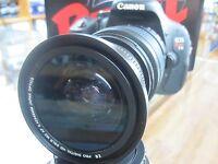 Wide Angle Fisheye Macro lens for Canon EOS Rebel T3 T3i T2 T2i 1100d HD free sh