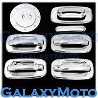 99-06 Chevy Silverado Chrome 4 Door Handle+W/O PSG Keyhole+Tailgate+Gas Cover