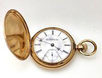 14k Yellow Gold Elgin Pocket Watch Vintage Fine Jewelry