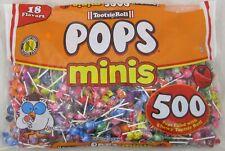 Tootsie Roll Minis Pops Candy Lollipops 500 ct Bag 18 Flavor Suckers Bulk 5.62LB