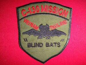 """Vietnam War Patch USAF 374th Tactical Airlift Wing C-130 MISSION """"BLIND BATS"""""""