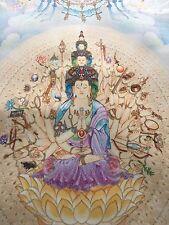 "39"" Silk Cloth Thousand Hand Buddha Statue"
