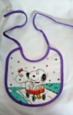 TWO (2) NEW Peanuts Snoopy BIBS - BABY SNOOPY, BABY BELLE, and BABY OLAF