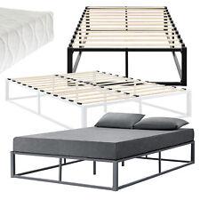 [en.casa] Metallbett Matratze Bettgestell Design Bett Schlafzimmer Metall