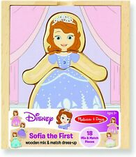 Melissa & Doug Disney Sofia The First Wooden Mix & Match Dress Up Set NEW