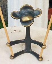 MCM TAPER HOLDER vtg bronze sculpture monkey figurine candle art walter bosse