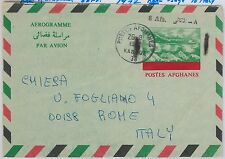 AIRMAIL: AEROGRAMME  Air Letter - AFGHANISTAN: revalued aerogramme to ITALY 1936