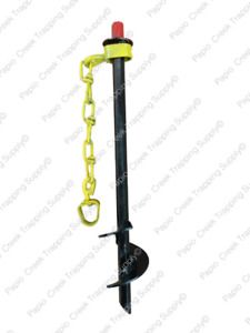 Heavy Duty PRO Drill-Drive-In Steel Auger-Style Dog Tie Out Stake Medium Dogs