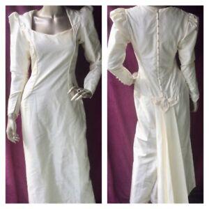 Vintage Wedding Dress Victorian Bridgeton  Style Theatre Costume Hen Party S