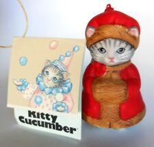 Kitty Cucumber Priscilla Red Winter Coat and Muff Ornament Schmid