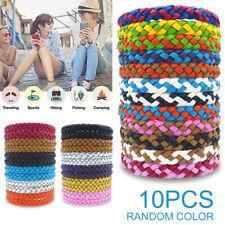 10Pcs Anti Mosquito Pest Bug Insect Repellent Bracelets Wrist Bands Wristbands