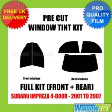 SUBARU IMPREZA 4-DOOR 2001-2007 FULL PRE CUT WINDOW TINT