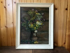 "Russian Soviet Oil Painting. Shuvalov N.N.""Bouquet"".Still-life.USSR."