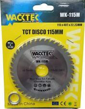 DISCO 115MM TAGLIA LEGNO PROFESSIONALE PVC PLASTICA 40 DENTI PER SMERIGLIATRICE