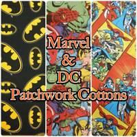 MARVEL DC Comic Book Batman Avengers 100% Cotton Patchwork Craft Fabric