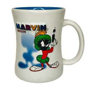 Marvin The Martian Mug Six Flags Park White Blue
