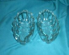 A PAIR OF VINTAGE PRINCESS HOUSE CRYSTAL SPOON REST'  VG