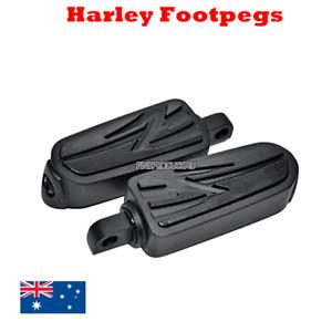 Black Harley male foot pegs footpegs rest Dyna softail sporstster vrod road king