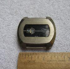 Vintage Men's CHATEAU Swiss JUMP HOUR Digital Manual Wind Watch-Parts/Restore