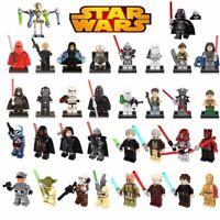 Star Wars Building Block Minifigures - Kylo Ren, Rey, Yoda, Han Solo +++ - Toys