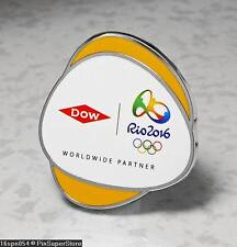 OLYMPIC PINS BADGE 2016 RIO DE JANEIRO BRAZIL DOW SPONSOR PARTNER YELLOW BACKED