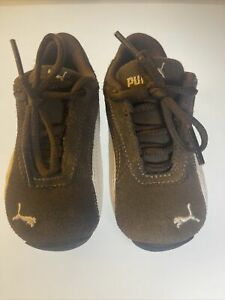 Puma Toddler Brown Suede Shoes Size US 5 Kids Baby Casual Soft Shoes