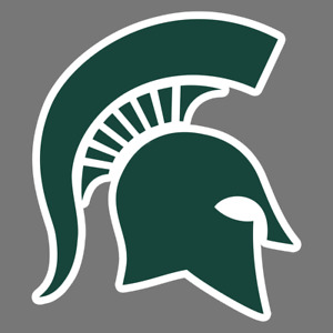 Michigan State Spartans NCAA Football Vinyl Sticker Car Truck Window Decal