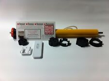 OUTSIDE ZIP SLIDE BLIND AWNING, MOTOR REMOTE CONTROL 240 VOLT TUBULAR 45MM