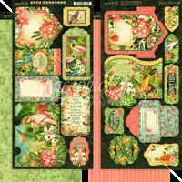 NEW  Graphic 45  Tags and Pockets Die-Cut Lost in Paradise