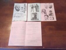Sammartino Wrestling program WWF NWA 1970 Mongol Albano Koloff Strongbow Rivera
