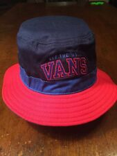 NWTs VANS Off The Wall Red/Blue Bucket Hat Beach Summer SML/MED